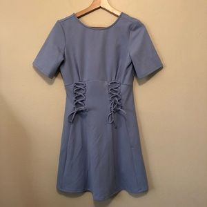 NWT ASOS Blue Lace Up Front Dress
